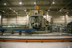 飞机工厂生产 图库摄影