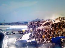 飞机废墟 图库摄影