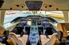 飞机座舱视图 免版税图库摄影