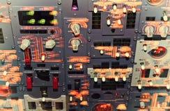 飞机座舱仪表板 库存图片