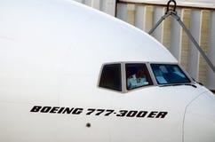 飞机座舱 免版税库存照片