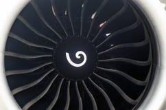 飞机引擎刀片乘客班机关闭 库存照片