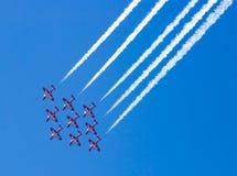 飞机形成 免版税库存图片