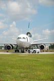 飞机损坏的乘客 图库摄影
