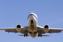 飞机接近  库存图片
