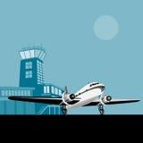 飞机推进器塔 免版税库存图片