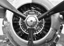 飞机推进器引擎 免版税图库摄影