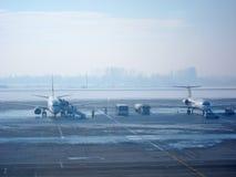 飞机搭乘 免版税库存图片