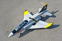 飞机操纵性电动机收音机玩具 图库摄影