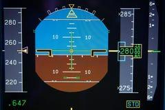 飞机显示主要飞行的pfd 库存图片