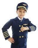 飞机晚 免版税库存图片