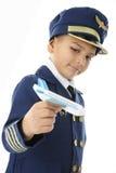 飞机晚 免版税库存照片