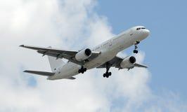 飞机未玷污的白色 库存图片