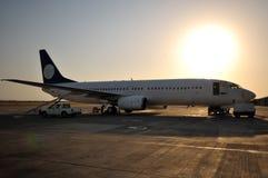 飞机机场ercan的塞浦路斯 免版税库存照片