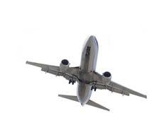 飞机查出的白色 库存图片