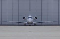 飞机正面图 免版税图库摄影