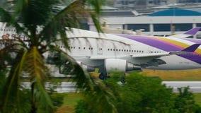 飞机波音747着陆 股票视频