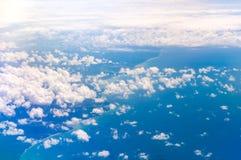飞机海岸视图 免版税库存照片