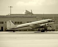 飞机涡轮螺旋桨发动机葡萄酒 库存照片