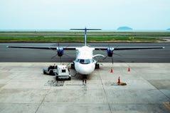 飞机涡轮螺旋桨发动机 库存图片