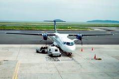 飞机涡轮螺旋桨发动机 免版税库存照片