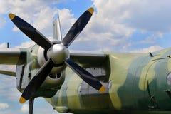 飞机涡轮螺旋桨引擎 免版税图库摄影