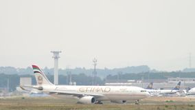A330飞机滑行 股票录像