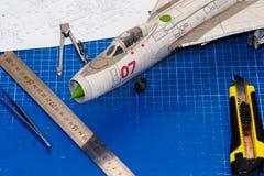 飞机特写镜头塑造 免版税库存照片
