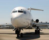 飞机特写镜头喷气机 免版税库存照片