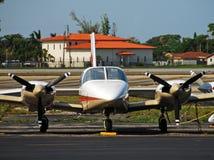 飞机现代涡轮螺旋桨发动机 免版税库存图片