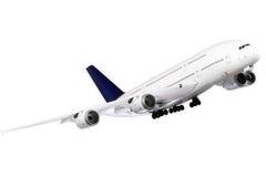 飞机现代白色 免版税图库摄影