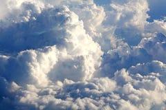 从飞机的云彩 免版税库存图片
