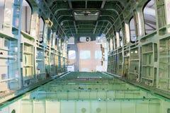 飞机的光秃的空的壳机体 免版税库存照片