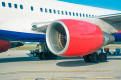 飞机的喷气机涡轮 免版税库存图片