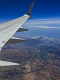 从飞机的地球 库存照片