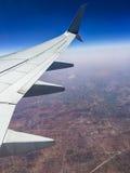 从飞机的地球 免版税库存照片