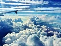 从飞机的天空 免版税库存照片