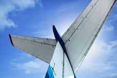 飞机的尾巴 库存照片