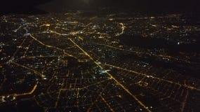 从飞机的布加勒斯特 库存照片