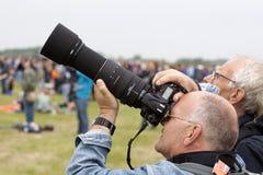 飞机的摄影师 免版税库存图片