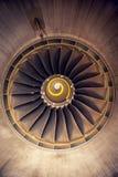 飞机的涡轮喷气引擎 库存照片