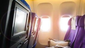 飞机的窗口 库存照片