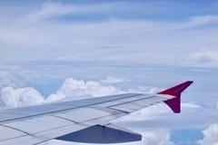 飞机的翼 图库摄影