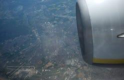 从飞机的视图 库存照片