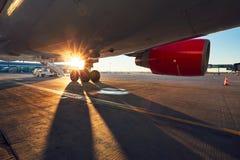 飞机的起落架 免版税库存图片