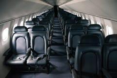 飞机的里面看法 免版税库存图片