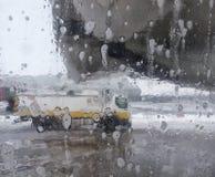 飞机的除冰器,除冰飞机空运 库存图片