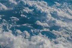 从飞机的飞机 免版税库存图片