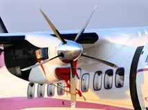 飞机的马达有推进器的 免版税库存图片