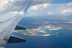从飞机的鸟瞰图 库存照片
